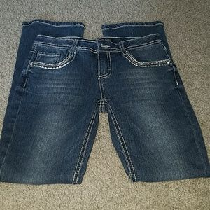 Stylish jeans with bling on pockets